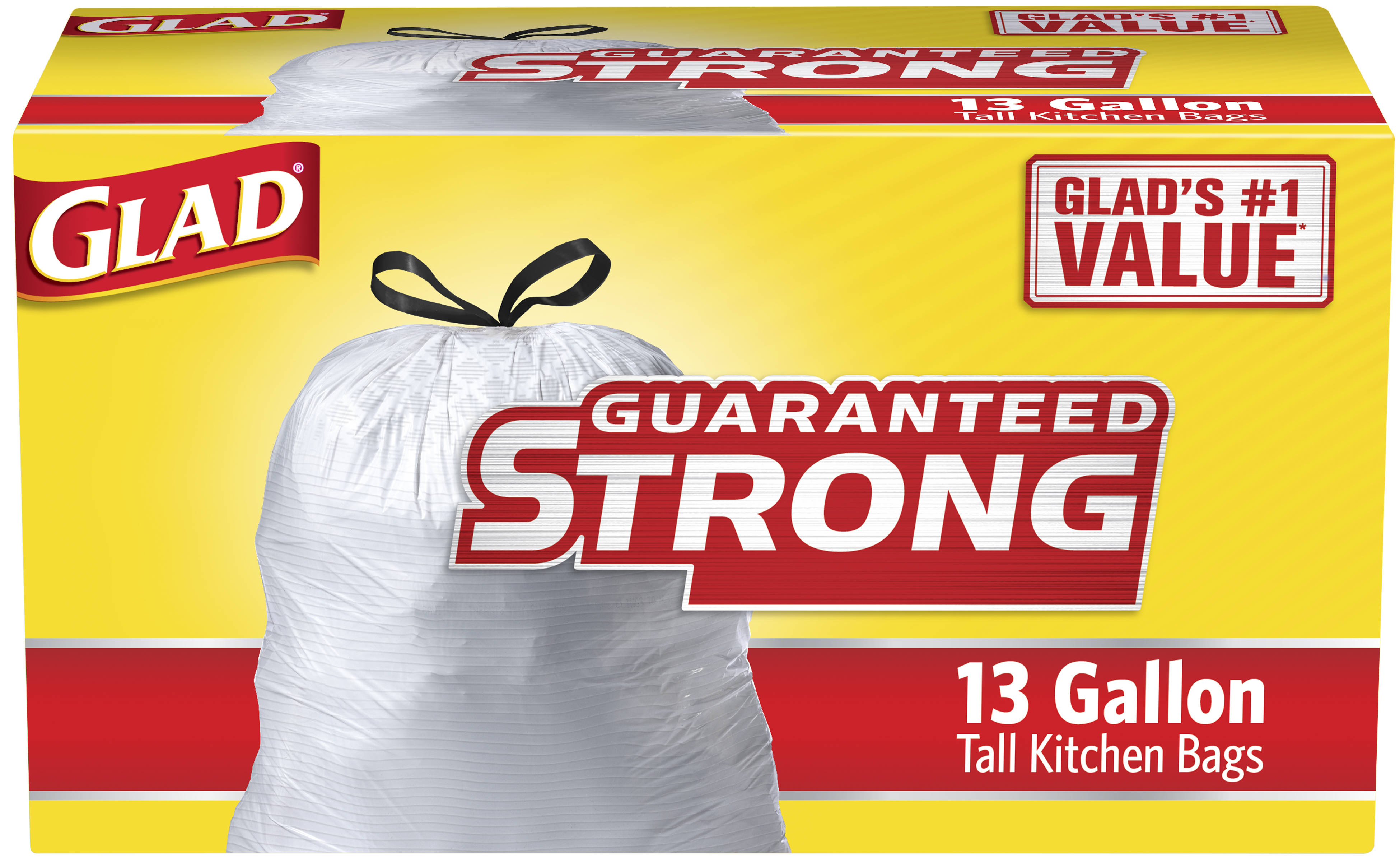 Glad Garbage Bags 13 Gallon